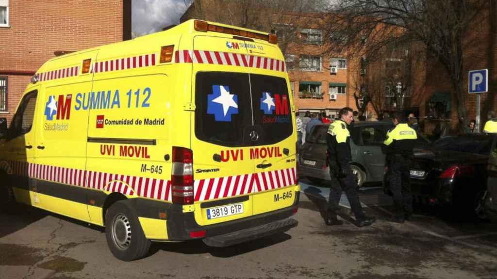 Una ambulancia del servicio de urgencias de la Comunidad de Madrid.