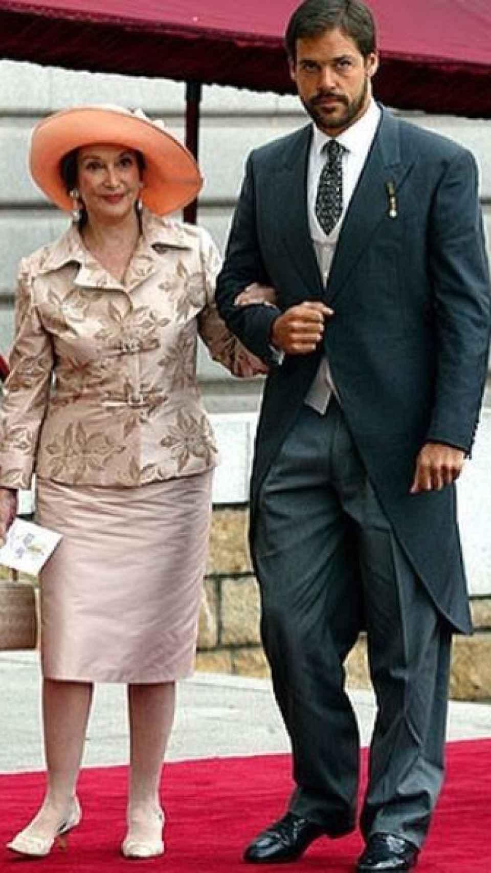 Carmen Franco y Luis Alfonso de Borbón.