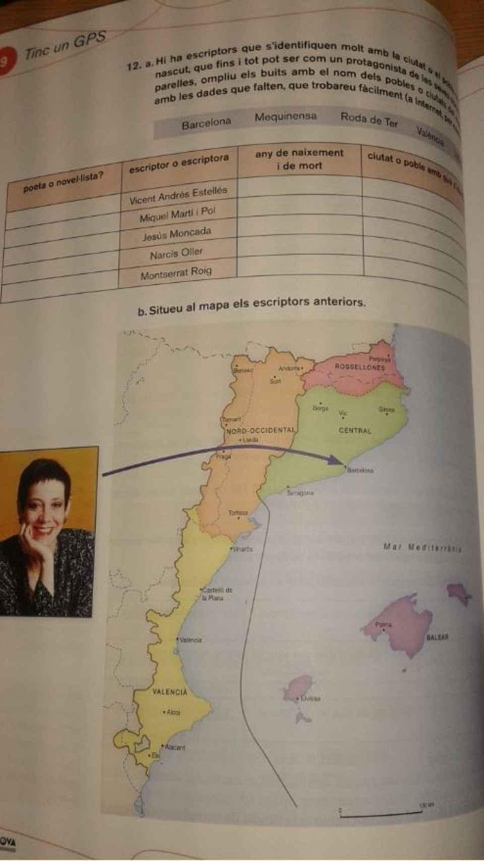Los mapas de los Países Catalanes se ven en varios libros de texto.
