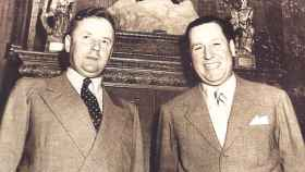 Ronald Richter (izqda) y Juan Domingo Perón (drcha).