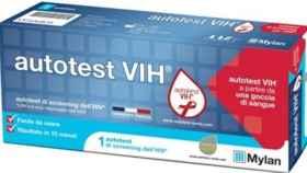 Un test de autodiagnóstico de VIH.