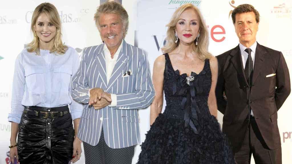 Alba Carrillo, Edmundo Arrocet, Carmen Lomana y Cayetano M. de Irujo.