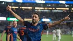 Villa celebrando un gol con el New York City. Foto: Instagram (@davidvilla).