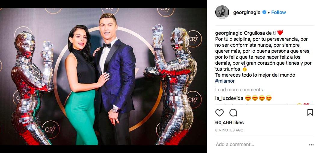 La última declaración de amor de Georgina Rodríguez a Cristiano