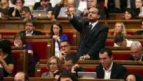 Alejandro Fernández, portavoz del PPC en el Parlament, en imagen de archivo.