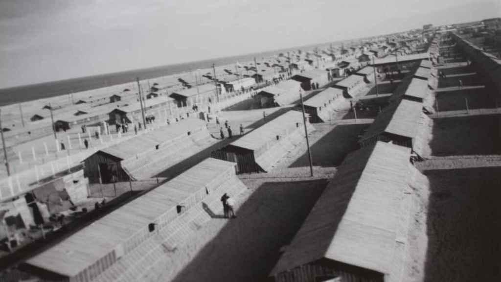 El campo tenía 600 barracones para más de 20.000 refugiados