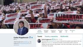 Perfil en Twitter de Carles Puigdemont.