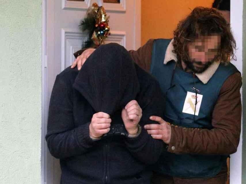 El Chicle, justo en el momento de su detención