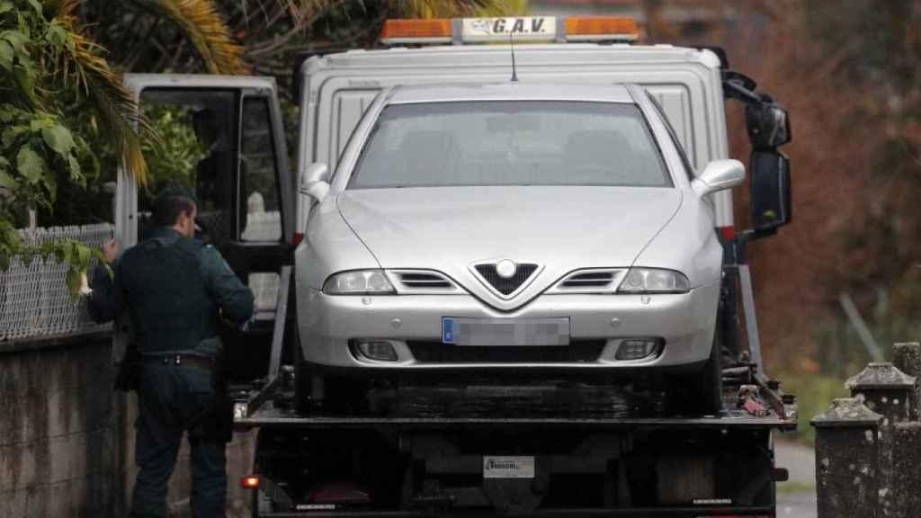 El coche donde El Chicle dijo haber introducido a Diana Quer y en cuyo maletero intentó meter, un año y medio después, a la joven de Boiro el día de Navidad.