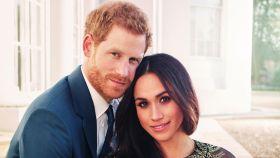 Harry y Meghan durante su posado oficial.