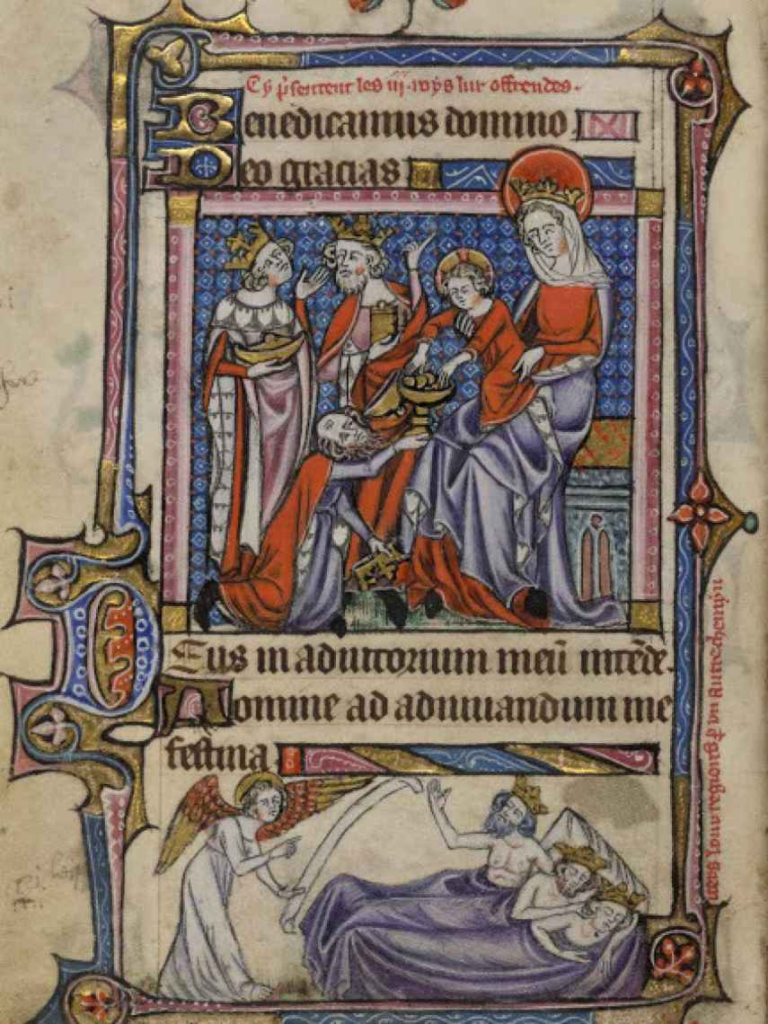 Libro de horas Taymouth (del siglo XIV), custodiado por la British Library de Londres.