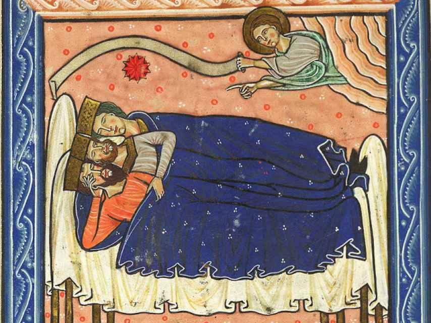 En el Salterio Royal del siglo XIII, en la British Library, de Londres.
