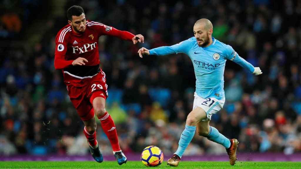 Silva reapareció el día 2 con el City en el encuentro ante el Watford.