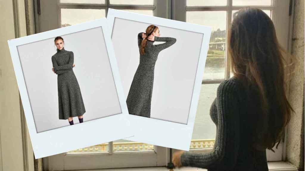 Sara Carbonero junto al vestido de Zara.