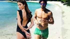 Feliciano y su novia, Sandra Gago, en un montaje de JALEOS.