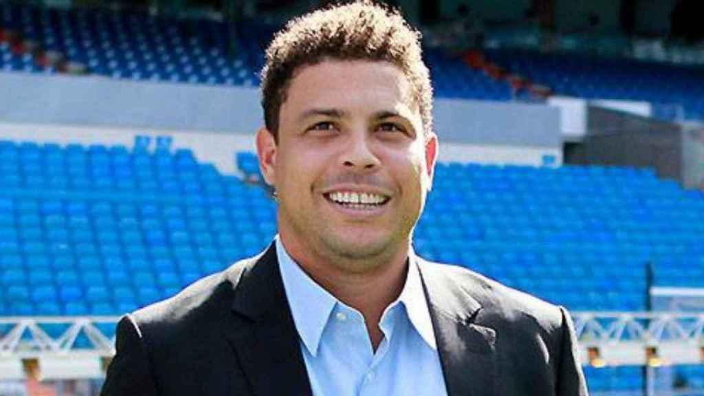 Ronaldo Nazario, en el Santiago Bernabéu