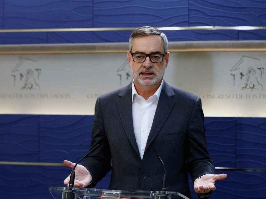 El portavoz de Ciudadanos, José Manuel Villegas, durante una rueda de prensa en el Congreso de los Diputados.