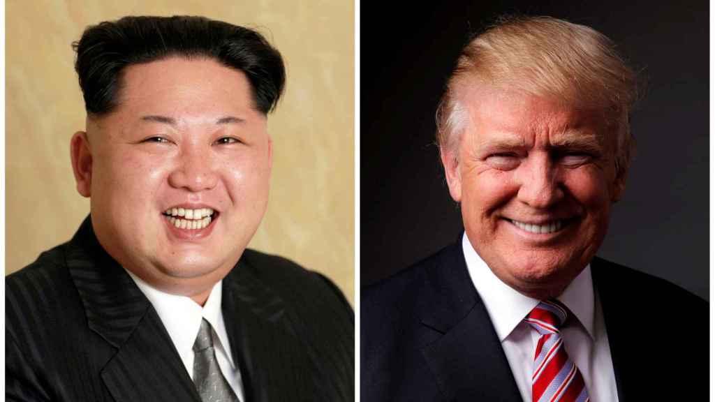 A la izquierda, Kim Jong-un. A la derecha, Donald Trump.