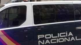 El furgón policial que ha trasladado al exvicepresidente catalán Oriol Junqueras al TS.