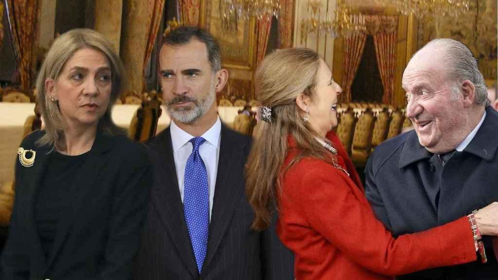 Los hermanos Cristina, Felipe y Elena se reúnen para el aniversario de su padre.
