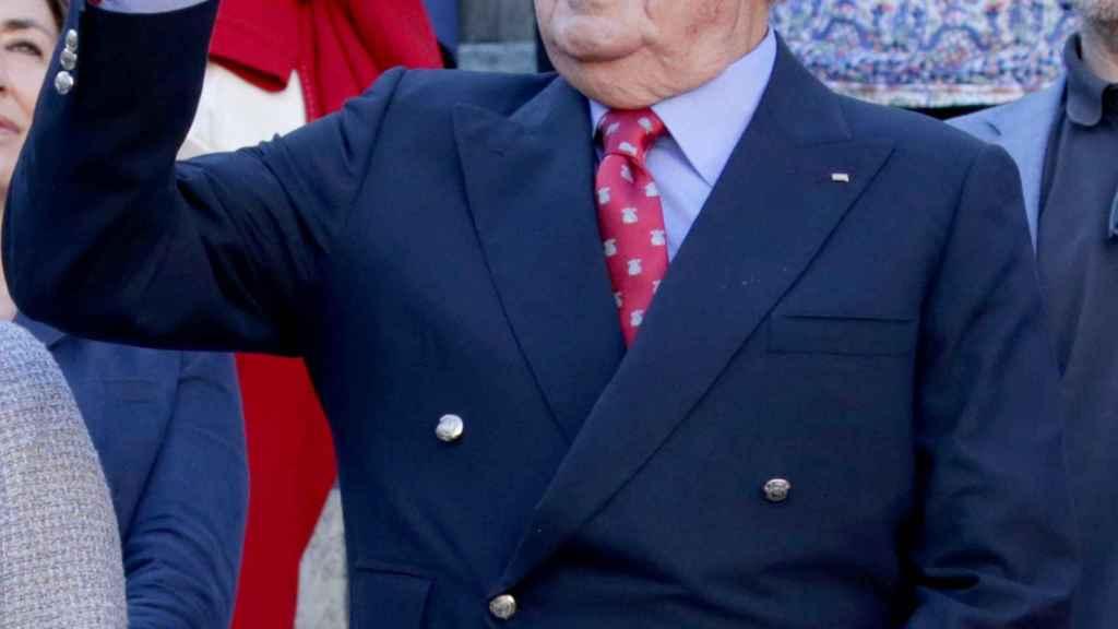 Juan Carlos I, durante la última feria de San Isidro.