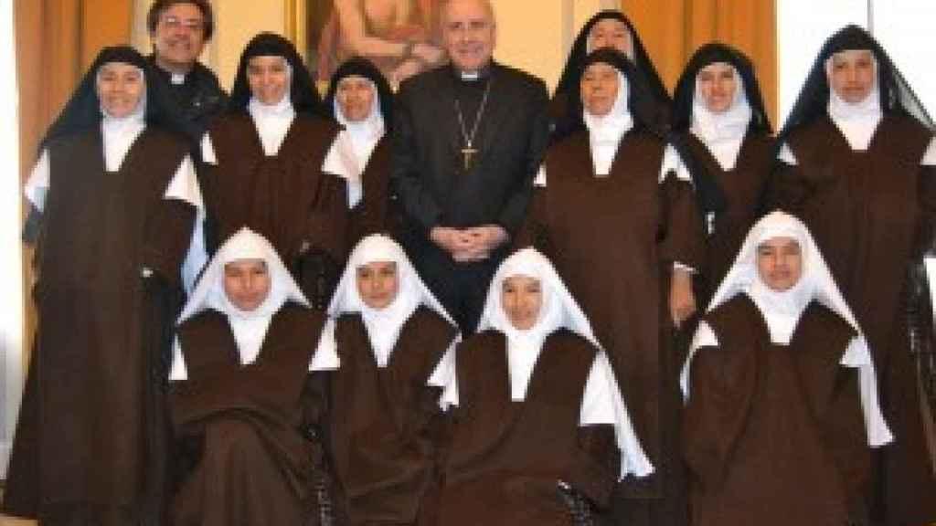 Las monjas del convento antes de la inauguración del monasterio.