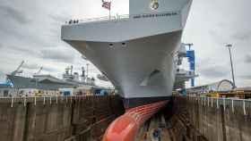 El espectacular barco británico Queen Elizabeth.