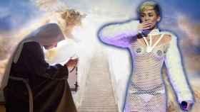 Las monjas tejen los diseños como el que lleva Miley Cyrus.
