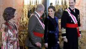 Los Reyes durante la ceremonia de la Pascua Militar.