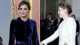 La reina Letizia y María Dolores de Cospedal en el evento.