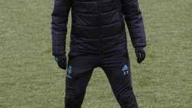 Zidane, en el entrenamiento de este sábado.