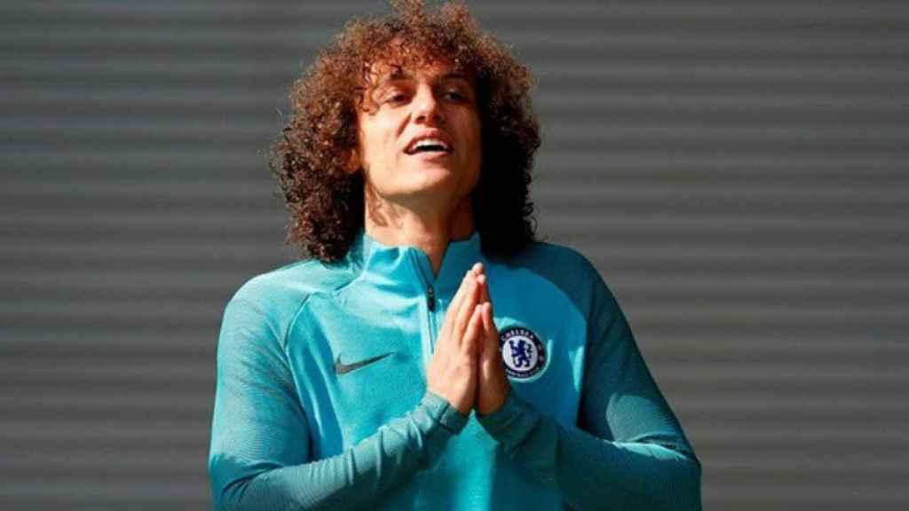 David Luiz entrena. Foto chelseafc.com