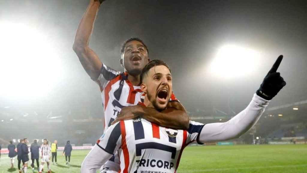 Fran Sol celebra su gol tras su vuelta. Foto: Twitter (@WillemII).