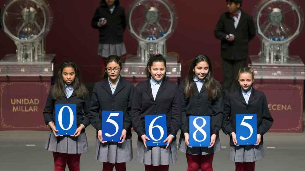 05685, primer premio del sorteo de la Lotería del Niño
