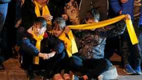 Cabalgata de Reyes de Manresa, politizada por la ANC y Òmnium.