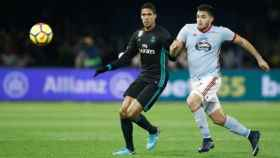 Varane, en el Celta-Real Madrid