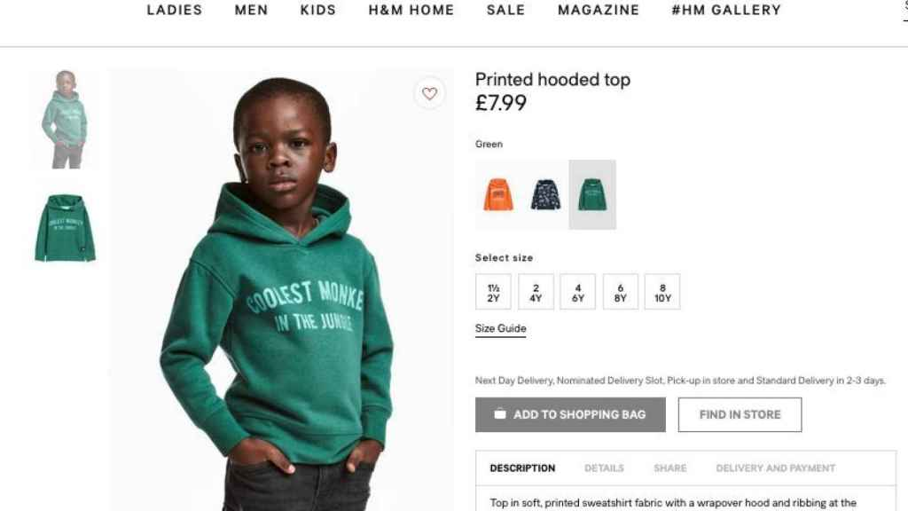 H&M, acusada de racista