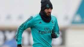 Karim Benzema, en el entrenamiento