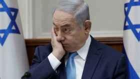 El primer ministro israelí, Benjamin Netanyahu, durante una rueda de prensa.