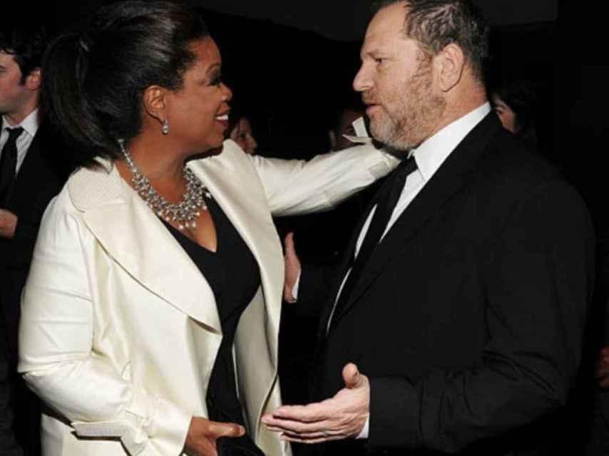 Cuando Oprah era amiga de Weinstein.