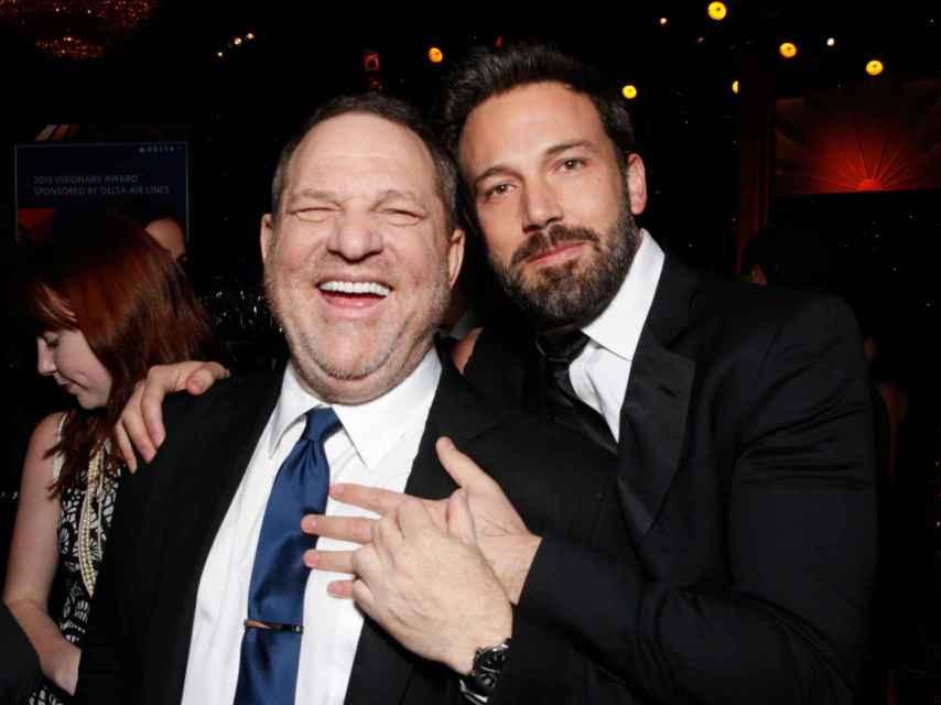 Cuando Ben Affleck era amigo de Weinstein.