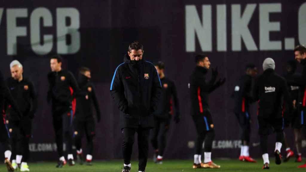 El entrenamiento del Barcelona previo al partido de Copa ante el Celta.