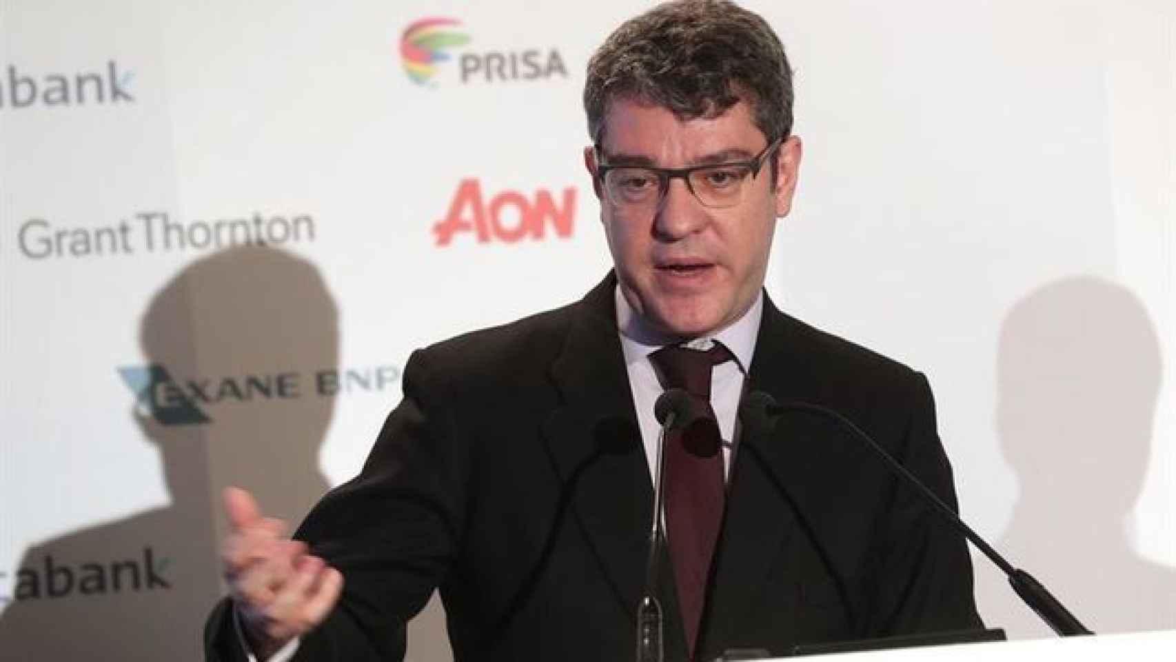 El ministro Álvaro Nadal durante su intervención en el Spain Investors Day.