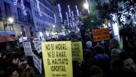 Imagen de la manifestación contra la violencia machista el 25N en Madrid.