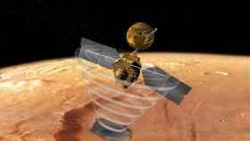 La sonda Mars Reconnaissance Orbiter entrando en el planeta rojo.