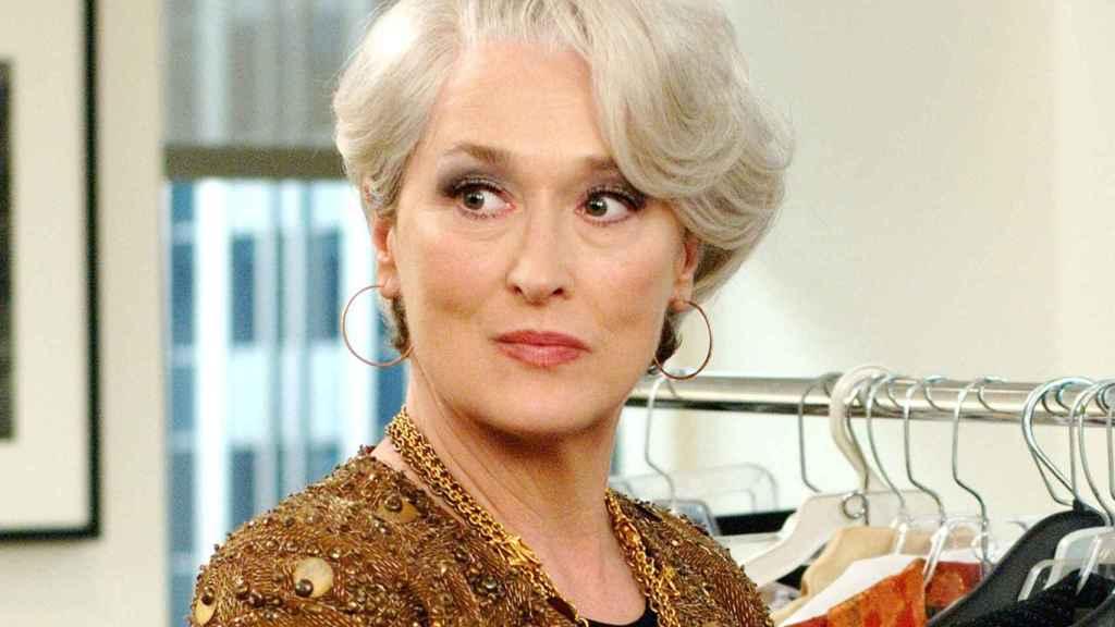 Meryl Streep en el diablo viste de Prada.