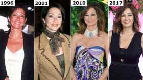 Ana Rosa Quintana, a lo largo de los años.