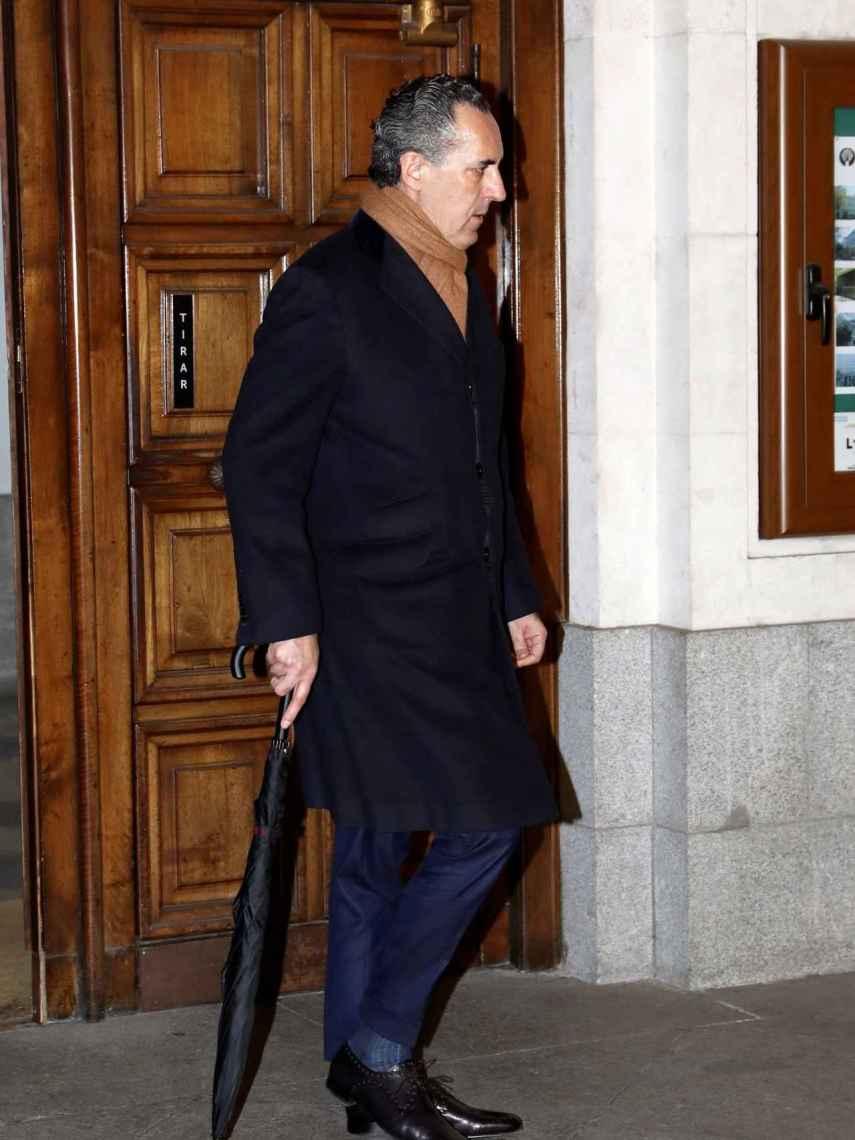 Jaime de Marichalar a su salida del funeral de Carmen Franco.