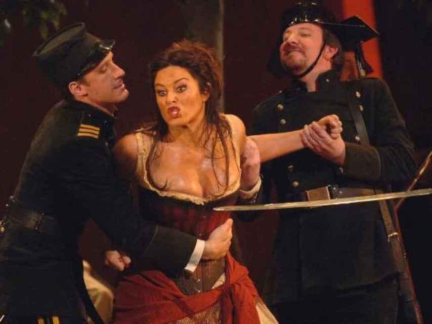 Un momento de la Carmen adaptada por Leo Muscato, en Florencia.