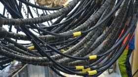 Un arrastrero pertrechado con redes eléctricas.